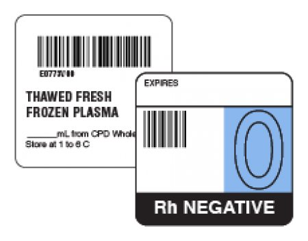 ISBT 128 & Codabar Labels